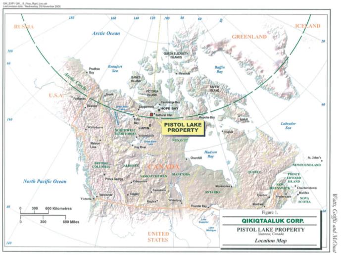 Pistol Lake Location Map